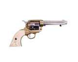 Denix - Old West M1873 Frontier Barrel Dual Tone Finish Revolver - Non-Firing Replica Gun