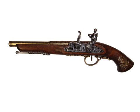 Denix - Left-Handed 18th Century Flintlock Brass Finish - Non-Firing Replica Gun
