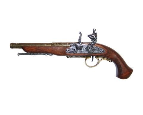 Denix - Left-Handed English Flintlock Brass Finish