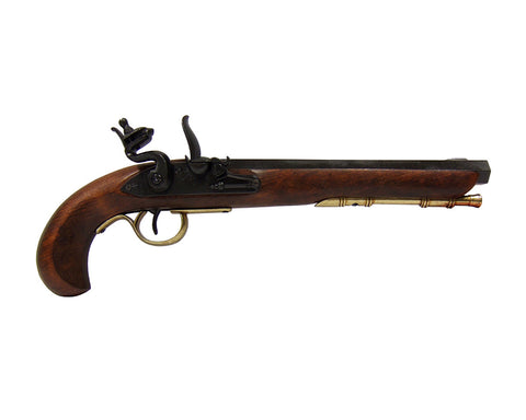 Denix 1810 Kentucky Flintlock Dueling Pistol Brass Finish - Non-Firing Replica Gun