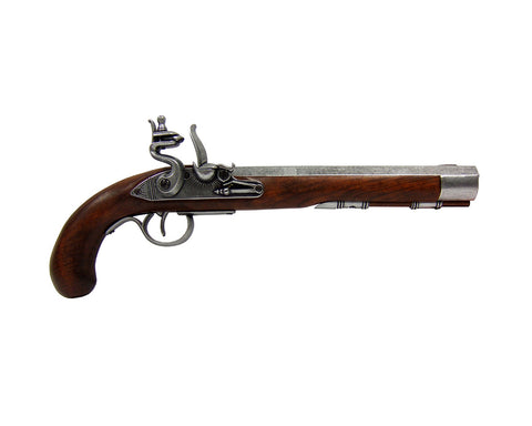Denix Deluxe Kentucky Flintlock Pistol Grey Finish - Non-Firing Replica Gun