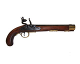 Deluxe Kentucky Flintlock Pistol Brass Finish - Non-Firing Replica Gun - MaxArmory