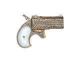 Denix - Old West 1866 Brass Finish Double Barrel Derringer - Non-Firing Replica Gun