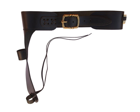 Denix Leather cartridge belt for Mare's Leg rifle including 15 bullets