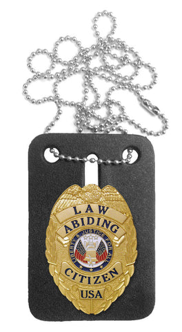 Law Abiding Citizen Mini Badge (with FREE Neck Chain Badge Holder)