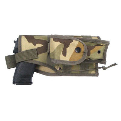 Large Pistol Holster - Woodland Camo - MaxArmory