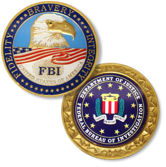 Deluxe Challenge Medallion Credential Case - FBI Seal