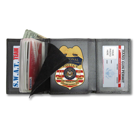 M101 - Custom Cut Badge Wallet - MaxArmory