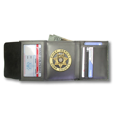 M105 Custom Cut Badge Wallet - MaxArmory