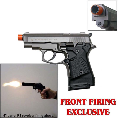 (FREE 25 RDS OF AMMO) Zoraki 914 Fume Full Auto - Front Fire 9mm Blank Firing Guns