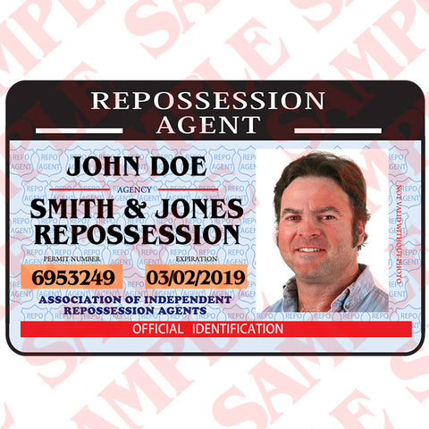 Repossession Agent ID Card - MaxArmory