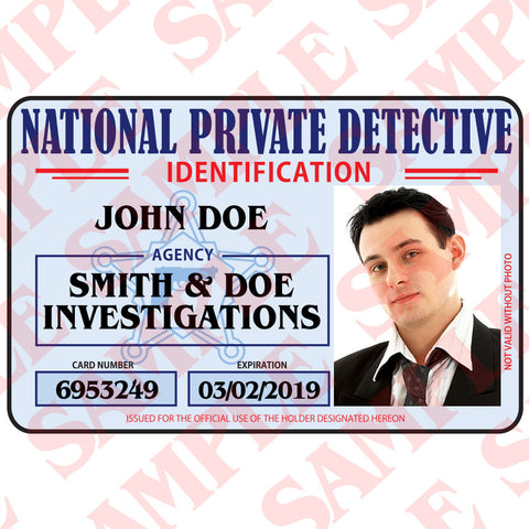 National Private Detective ID Card - MaxArmory