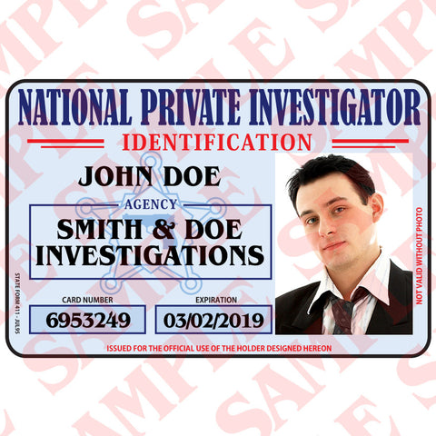National Private Investigator ID Card - MaxArmory