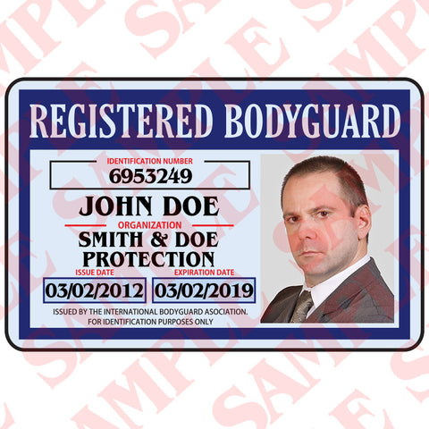 Registered Bodyguard ID Card - MaxArmory