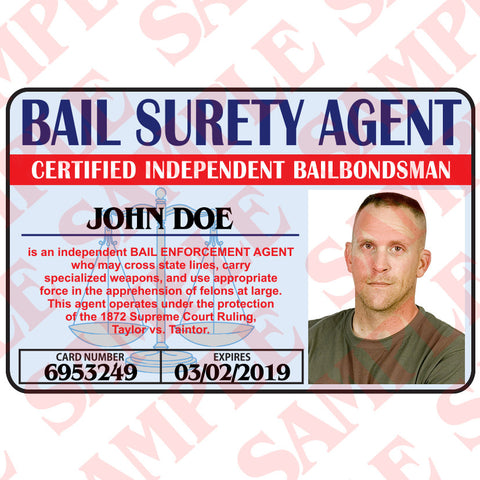 Bail Surety Agent ID Card - MaxArmory