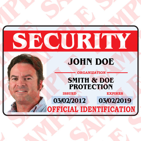 Security ID Card - MaxArmory