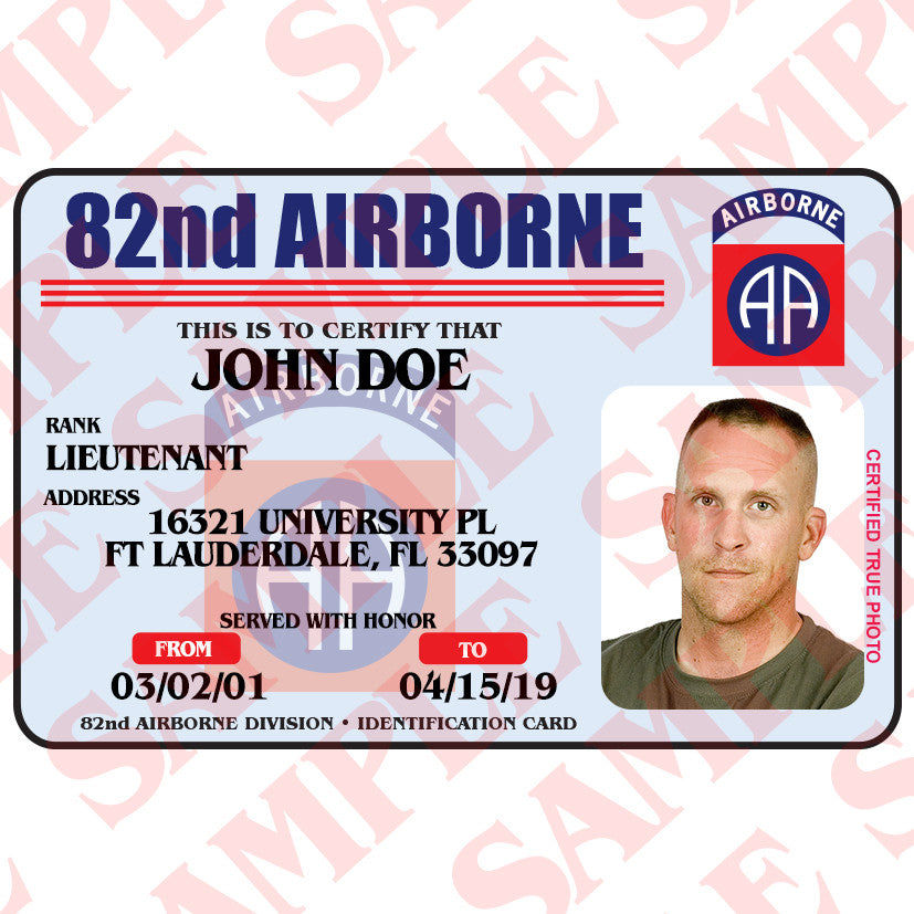 Airborne Maxarmory Card 82nd – Id