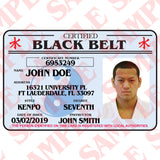 Certified Black Belt ID Card - MaxArmory