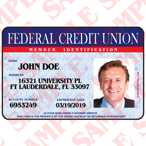 Federal Credit Union Member ID