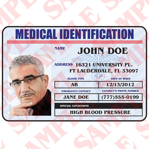 Card Medical – Identification Maxarmory Id