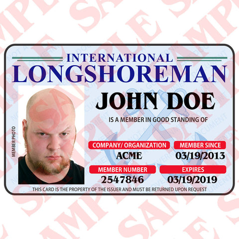International Longshoreman ID Card - MaxArmory