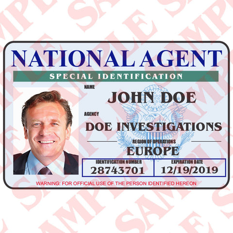 National Agent ID Card - MaxArmory