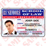Rushmore School of Law Student ID - MaxArmory