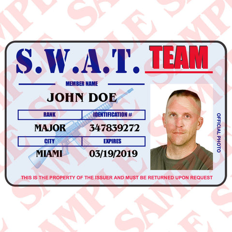 S.W.A.T. Team ID Card - MaxArmory