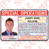 Special Operations - Custom ID Card