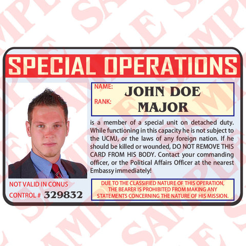Special Operations ID Card