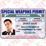 Special Weapons Permit ID Card