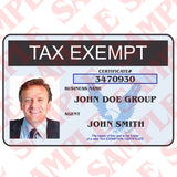 Tax Exemption ID Card - MaxArmory