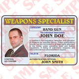 Weapons Specialist ID Card - MaxArmory