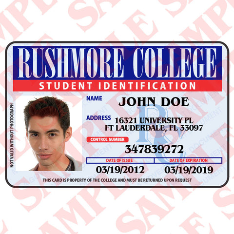 Rushmore College Student ID - MaxArmory