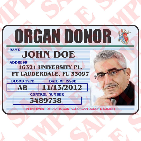 Organ Donor ID Card - MaxArmory