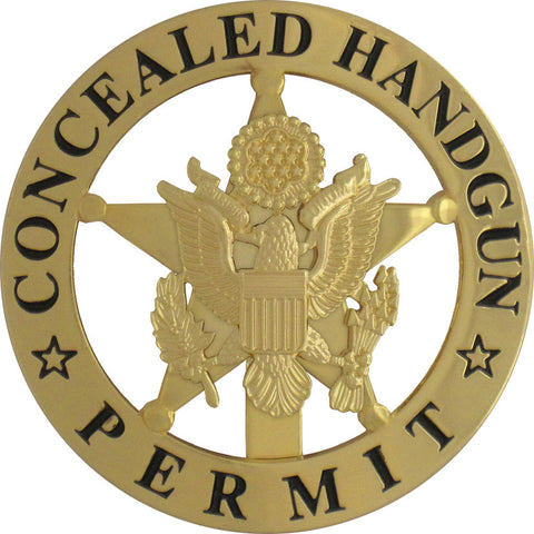 Marshal Style Concealed Handgun Permit Badge Set
