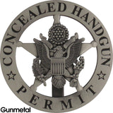 Marshal Style Concealed Handgun Permit Badge Set - MaxArmory
