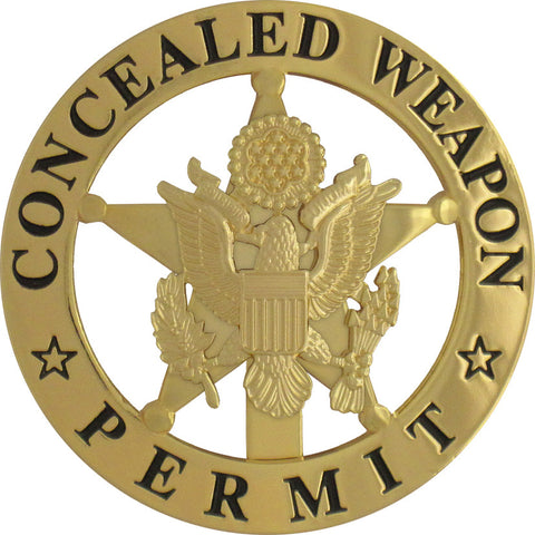 Marshal Style Concealed Weapon Permit Badge Set