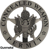 Marshal Style Concealed Weapon Permit Badge Set - MaxArmory