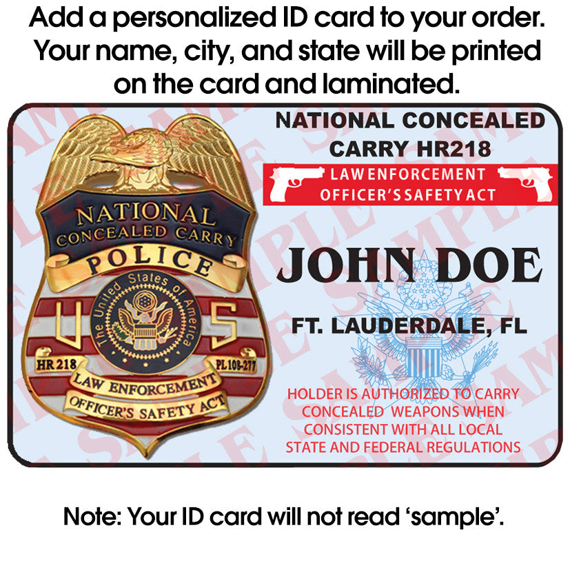 Police National Concealed Carry