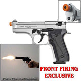 EKOL Jackal Dual Compact Nickel - Full Auto Machine Pistol - 9mm Front Firing Blank Gun