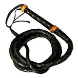 Top Grain Bullwhip (Black-Large) - MaxArmory