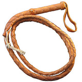 Top Grain Bullwhip (Tan-Medium) - MaxArmory