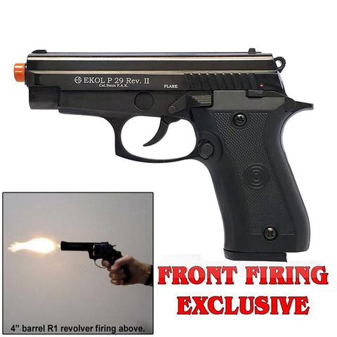 EKOL P29 REV II Black - Front Firing 9mm Blank Gun