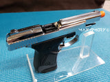 Zoraki M914 Chrome Machine Pistol - 9mm Front Firing Blank Gun - MaxArmory