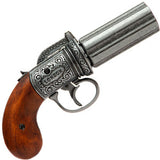 Denix - Pepperbox revolver, England 1840 - Pewter