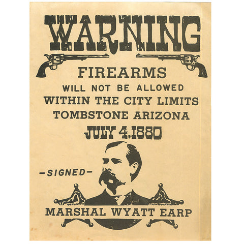 Closeout - Wyatt Earp - Old West High Quality Prints - MaxArmory