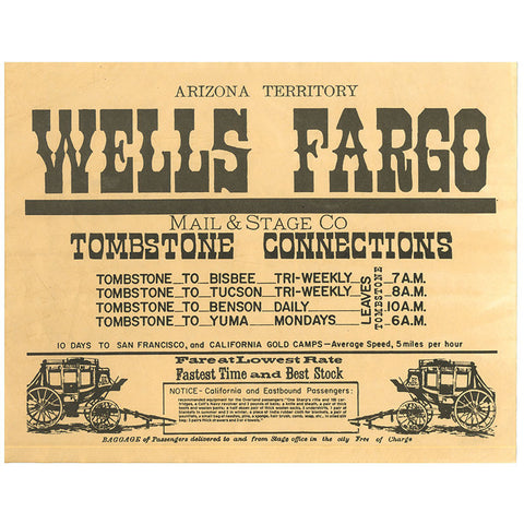 Closeout - Wells Fargo - Old West High Quality Prints
