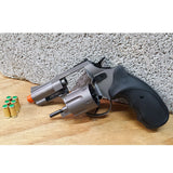 "Zoraki R1 Fume 2.5"" Barrel - Blank Front Firing Gun Revolver Set - Includes 25 Rounds of .380 9mm Ammo & Holster - MaxArmory"