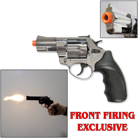 "R1 Chrome 2.5"" Barrel - Blank Firing Revolver- Includes Free 25 Rds of Ammo"